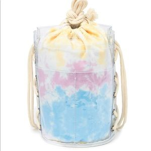 PEACELOVEWORLD Tie Dye Bucket Bag Backpack NWT
